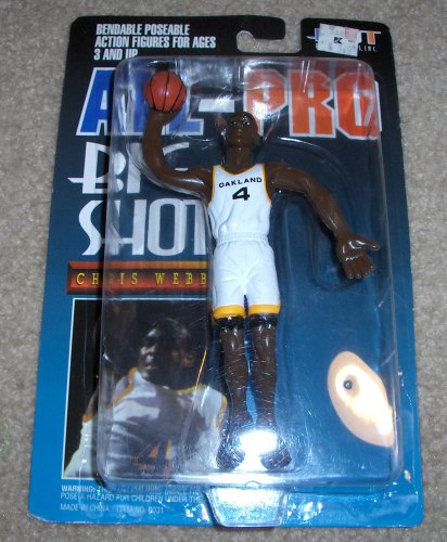 All Pro Chris Webber NBA Big Shot Bendable Figure