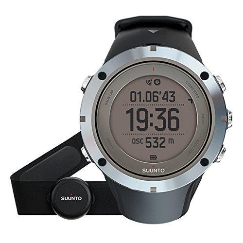 Suunto SS020673000 Ambit 3 Peak Sapphire HR, Orologio GPS, Nero/Argento