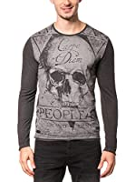 AMERICAN PEOPLE Camiseta Manga Larga Hill (Antracita)