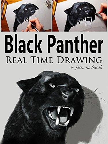 Black Panther Real Time Drawing by Jasmina Susak