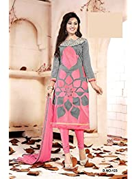 London Beauty Designer Grey And Pink Straight Salwar Suit