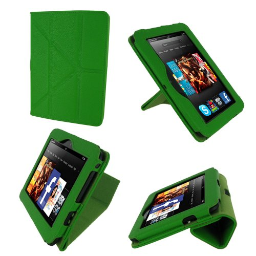 rooCASE Origami Dual-View (Green) Vegan Leather