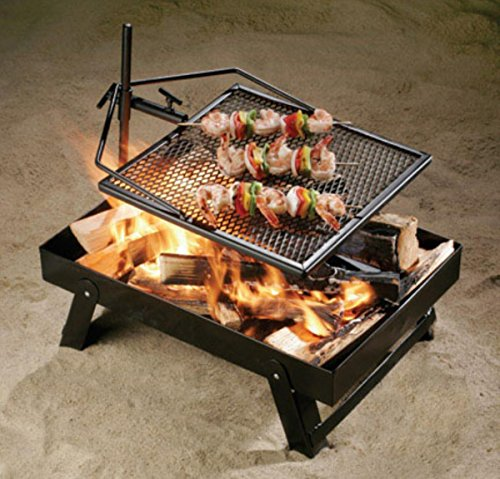 Pickup The Adjustagrill - Campfire To Go - Fire Pan Combo Contained Campfire And Cooking System wholesale
