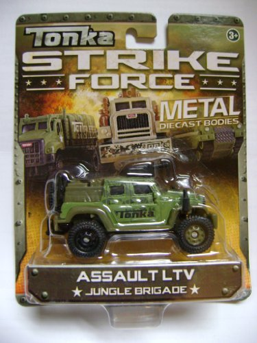 Tonka Strike Force Metal Diecast Bodies. Assault LTV. Jungle Brigade. 1:55 Scale. - 1