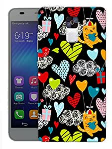 "Humor Gang Love All Around Printed Designer Mobile Back Cover For ""Huawei Honor 7"" (3D, Matte, Premium Quality Snap On Case)"