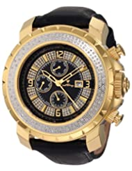 """JBW-Just Bling Men's JB-6236L-H """"Titus"""" Oversized Multi-Function Leather Band Diamond Watch"""