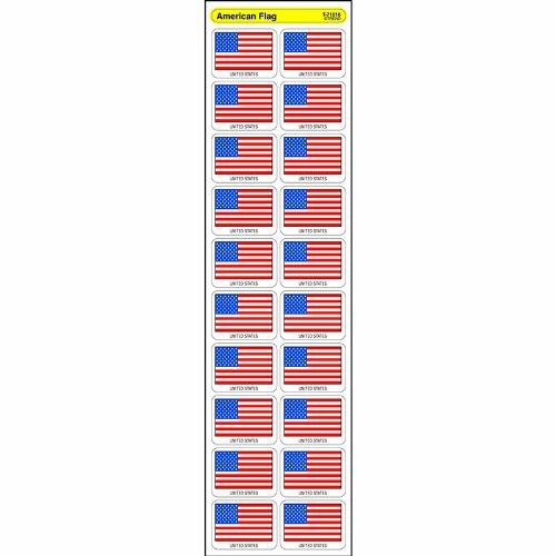 Trend Enterprises American Flag Discovery Stickers (T-71016)