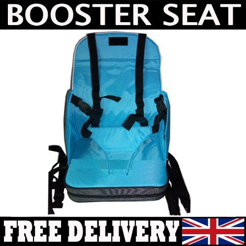 CASEMERE Baby On The Go Booster Seat Travel High Chair in Blue