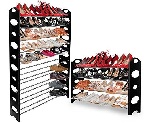 Shoe Rack for 50 Pair Wall Bench Shelf Closet Organizer Storage Box Stand (Decorative Shelf Expresso compare prices)