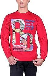 UCC Men's Fleece Regular Fit Sweatshirts (UCC7014RED-XL)