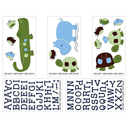 NoJo Alligator Blues Wall Decals