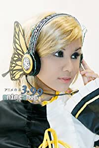 Yellow Headset Earphones for Cosplay of Vocaloid Kagamine Rin in Magnet