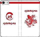 iPhone選択可:野球シルエット手帳ケース(好きな番号を受注生産)(ホーム/広島_筆デザイン_A) iPhone6/6s用