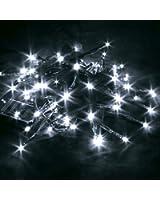 Letpower Blanc 10mètres 80 leds Guirlande led lampe ampoule éclairage solaire étanche pour jardin décoration extérieur intérieure lumineuse idéal pour Noël , fêtes , mariages, maison, sapin de noël, etc