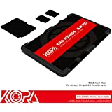 KORA Portable Memory Card Case With Writable Label For 2 SD Cards And 4 Micro SD Cards