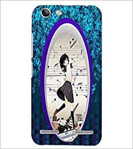 PrintDhaba Music Girl D-4470 Back Case Cover for LENOVO VIBE K5 (Multi-Coloured)