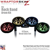 Metal Flames Colors Skin by WraptorSkinz fits Rock Band Drum Set for Nintendo Wii, XBOX 360, PS2  PS3 (DRUMS NOT INCLUDED)