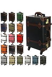 MOIERG Vintage Trolley Luggage 2tone TSA