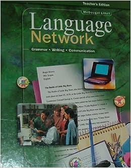Language Network: Grammar, Usage, and Mechanics Workbook Grade 10, MCDOUGAL LITT