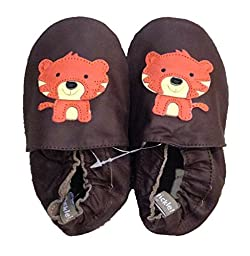 Tommy Tickle Soft Sole-Tiger Chocolate-Large (12-18 mos)