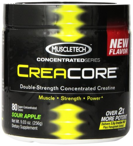 Muscletech Creacore, Sour Apple - 80 Servings, Concentrated Creatine Hcl Powder