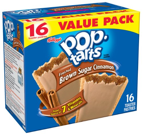 Pop-Tarts, Frosted Brown Sugar Cinnamon, 16-Count Tarts (Pack of 8)