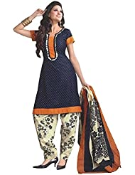 Shiroya Brothers Womens Cotton Unstitched Salwar Suit Dress Material (Shiroya_501_Blue)