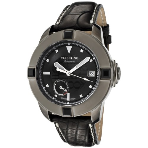 Valentino Men's 8721196025-S009 Automatic Black Dial Black Alligator Watch