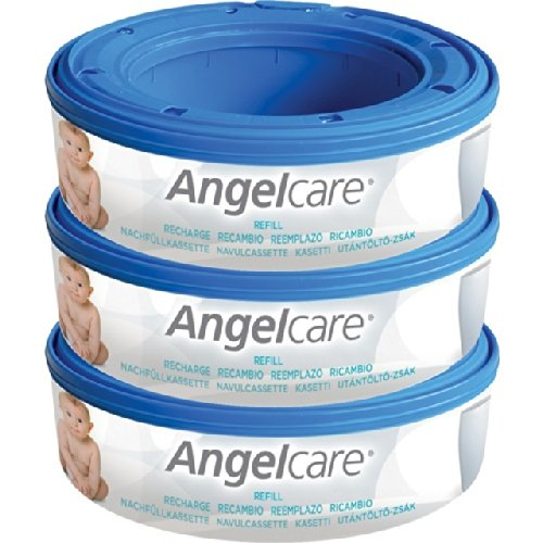 Angelcare Nappy Bin Recharge Cassette 3 par paquet