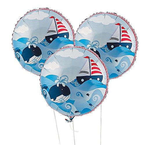 1st Birthday Sailor Mylar Balloons - Balloons & Printed Balloons