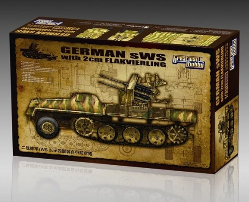Great Wall Hobby 1/35 German sWS with 2cm Flakvierling # L3525