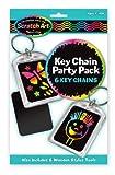 Melissa & Doug Key Chain Scratch Art Party Pack