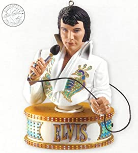Carlton Cards Heirloom Elvis Presley Musical Christmas Ornament