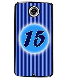 Printvisa 2D Printed Numerology Designer back case cover for Motorola Nexus 6 - D4233