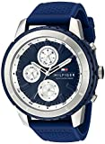 Tommy Hilfiger Men's 1791193 Casual Sport Analog Display Quartz Blue Watch