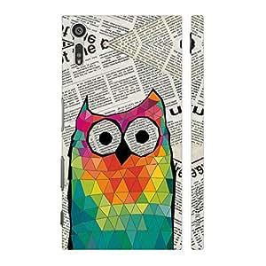 Enthopia Designer Hardshell Case Smart Owl Back Cover for Sony Xperia XZ