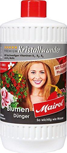 Mairol Premium Kristallwunder Blumendünger mit Kalium und Phosphaten (1200 gr)