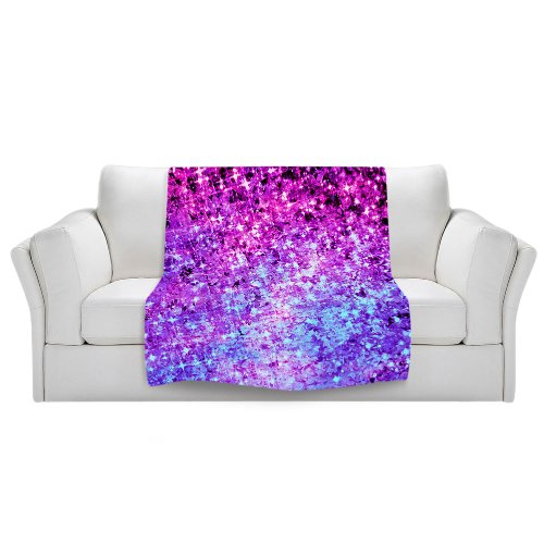 Blanket Ultra Soft Fuzzy Fleece From Dianoche Designs Home Decor Unique, Cool, Fun, Funky, Designer, Artistic, Stylish Bedroom And Bathroom Ideas Couch Or Throw Blanket By Julia Di Sano - Radiant Orchid Galaxy