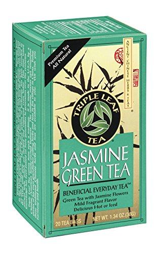 Triple Leaf Tea Jasmine Green Tea - 20 Tea Bags (Pack Of 6)