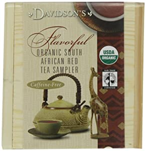 Davidson's Tea Red Sampler Tea Chest, 4 Ounce Boxes (Pack of 6)
