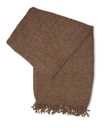 Jovi Home Royal Chenille Hand Woven Throw 50-Inch-By-60-Inch, Mocha (Taupe)