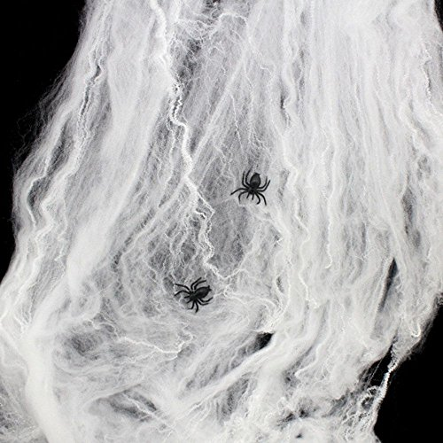 MMRM Extensible Toile d'araignée + 2 Araignée Scène Décoration Prop pour Halloween
