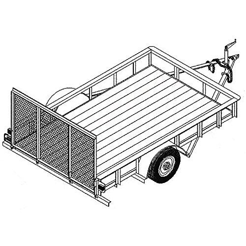 Utility Trailer Plans Blueprints (10' x 6' - Model 1110) (10 Ft Utility Trailer compare prices)