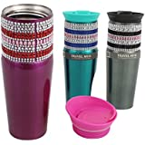Gibson Home Beaded Bling 13 Ounce Travel Mug - Color May Vary