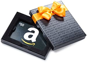 Amazon.com $50 Gift Card in a Black Gift Box (Classic Black Card Design)