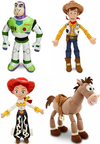 "Disney Store Toy Story 3 Plush 4 Doll Gift Set Including 17"" Buzz Lightyear, 18"" Sheriff Woody, 16"" Jessie And 17"" Bullseye Stuffed Animal Toys front-932400"