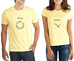 LaCrafters Couple Tshirt - Sharing Goodtimes Yellow_X-Large
