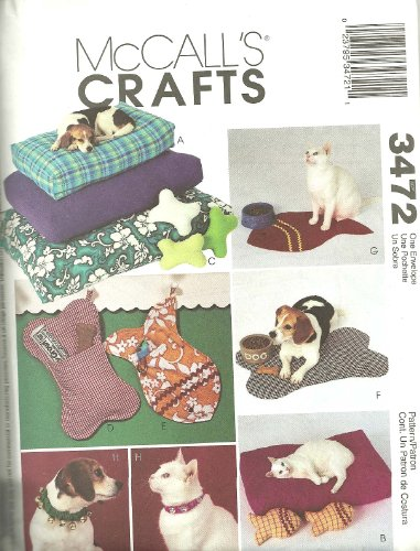 McCalls 3472 – Pet Accessories – Patterns for Cats and Dogs