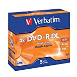 Verbatim 43543 4x Dual Layer DVD-R - Jewel Cased 5 Pack