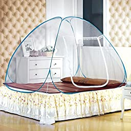 LEOSO Portable Folding Pop Up Mosquito Net Travel Camping Tent (M=150cm*200cm*138cm,59\